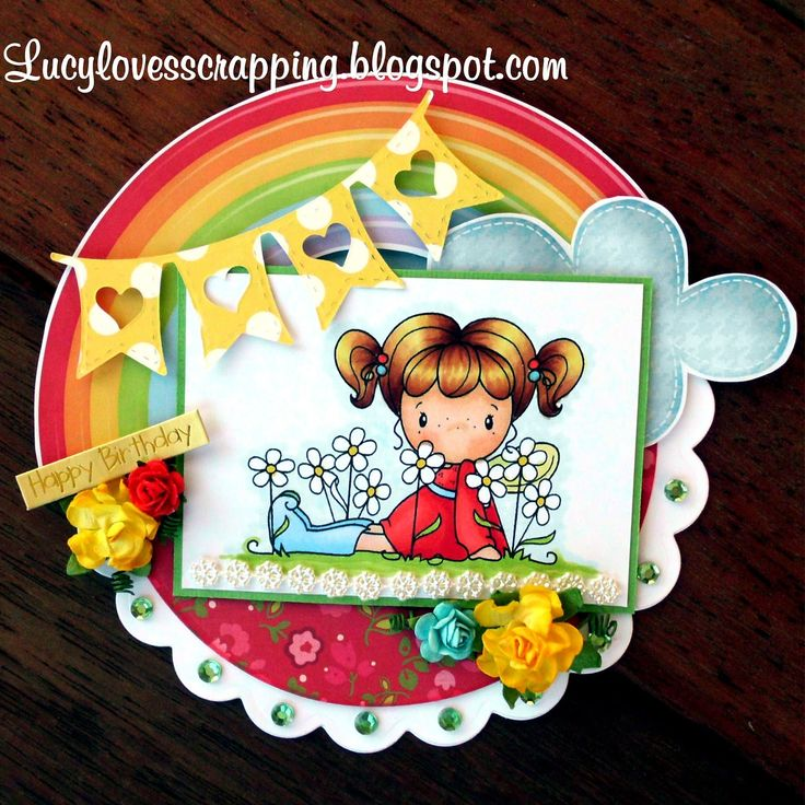 Lucy loves scrapping: CC Designs digi handmade girly card