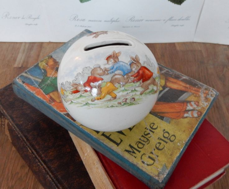A Vintage,Collectable, Bunnykins Money Box , Royal Doulton, Boho , Shabby Chic, Retro Collectable, Childrens Money Box. by Route46Vintage on Etsy