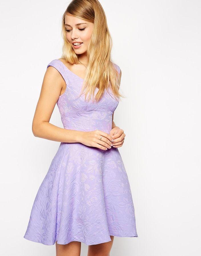 ASOS Textured Skater Dress