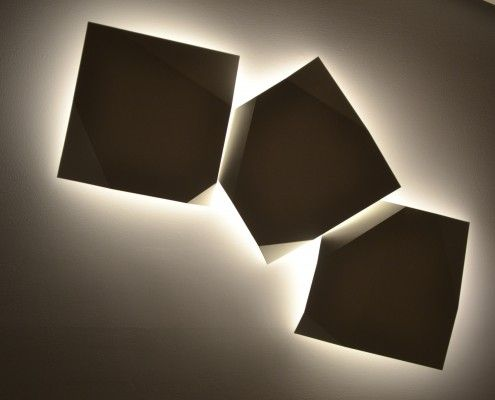 Beautiful wall lighting from Vibia used in a home just out of Oslo...