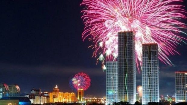 New Years Eve Fireworks In Astana New Years Eve Fireworks New Years Eve 2017 New Year S Eve 2019