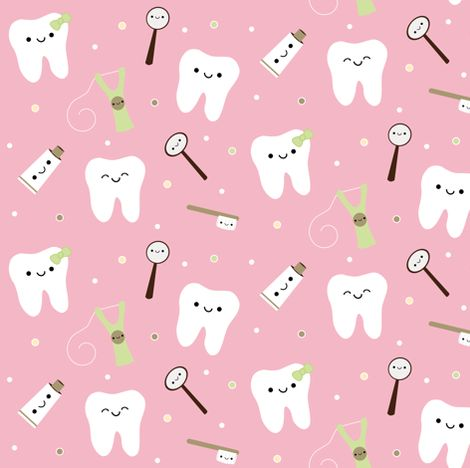 Happy Teeth & Friends - Light Piink by clayvision