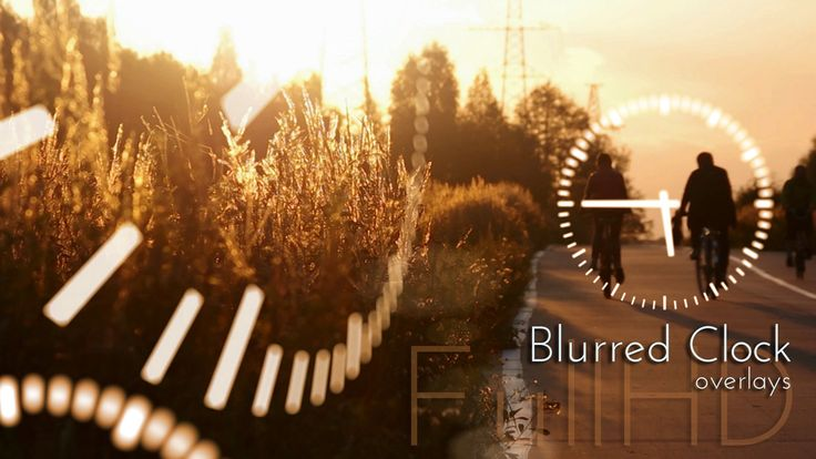 Motion Blurred Clock FullHD Overlays. Daily video design projects.