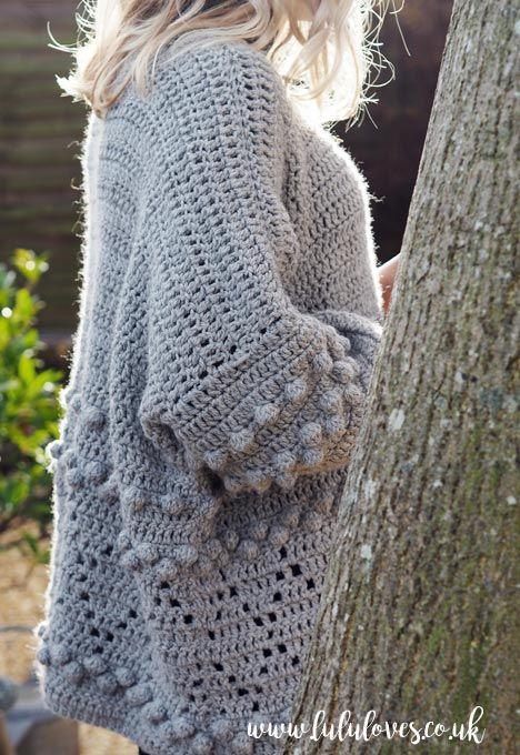 Lululoves: diamonds and bobbles crochet jumper pattern