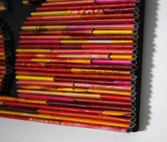 4 temporadas vistoso árbol pared arte-hecho de revistas