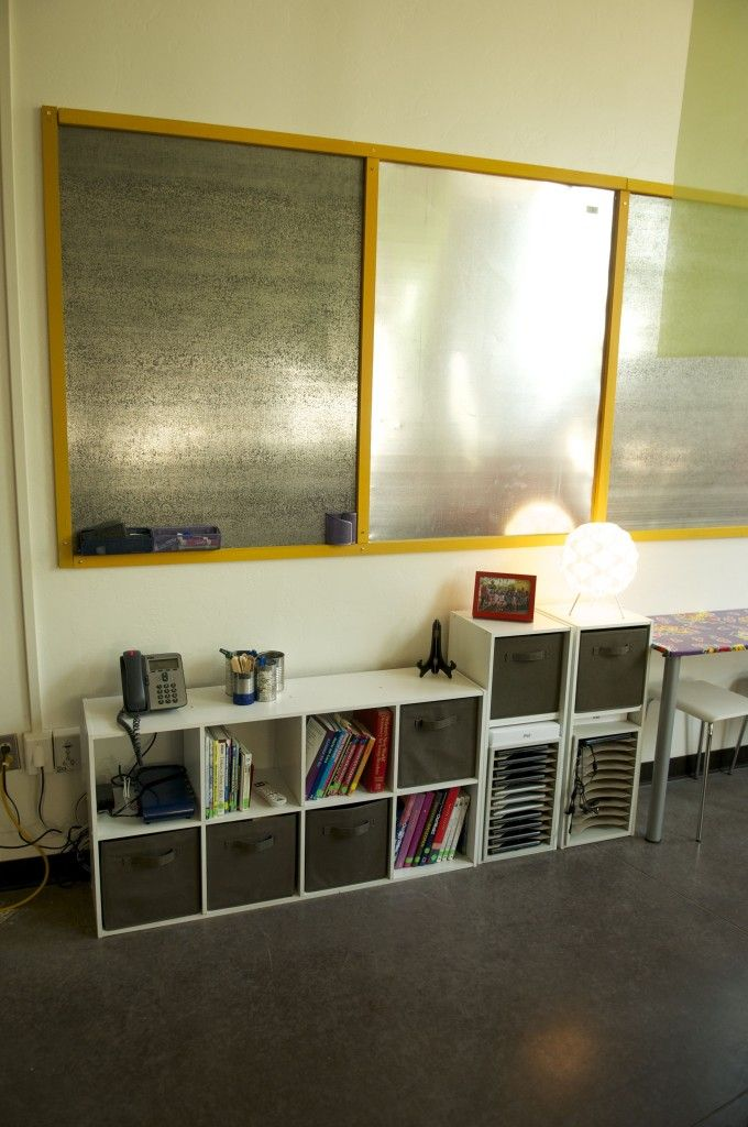 Galvanized sheet metal for magnetic bulletin boards!