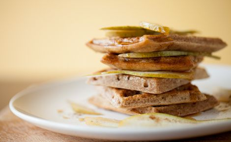 Epicure's Pear Chai Waffles