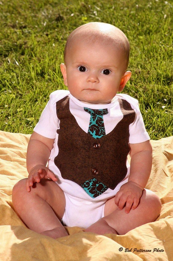 8 best tie onesies for boys images on pinterest
