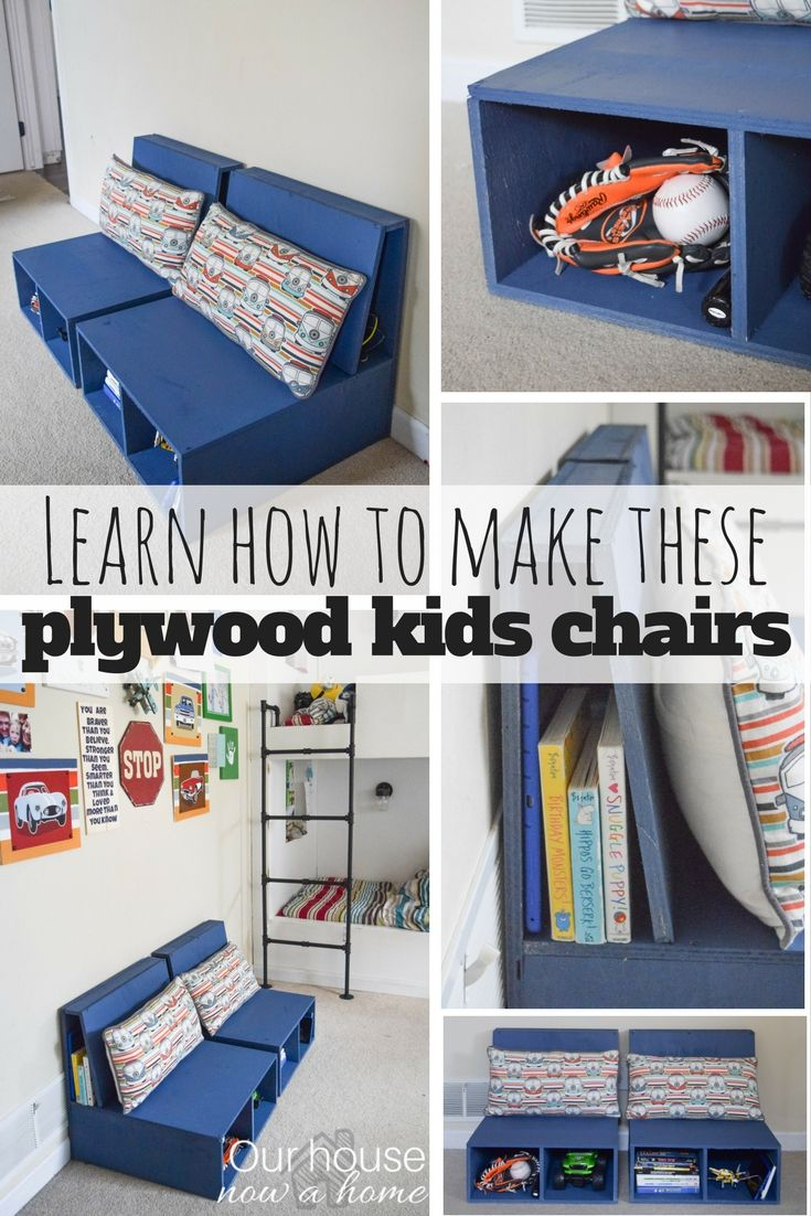 Easy steps to make DIY plywood kids chairs with storage • Our House Now a Home