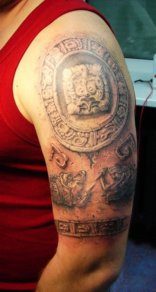 Aztec Tribal Tattoos - pictures, photos, images                                                                                                                                                                                 More