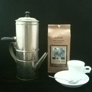 Compositon with Neapolitan Coffee Machine