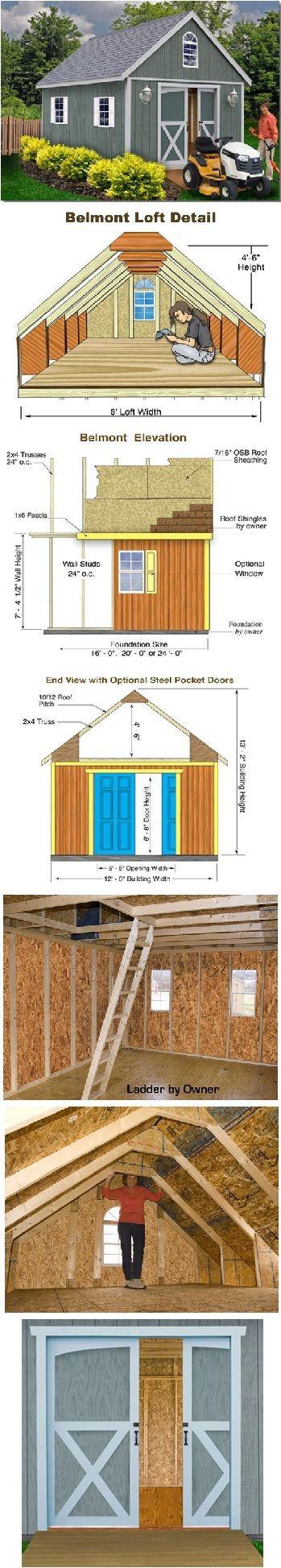 Belmont 12 ft x 16 ft Best Barn Wood Shed Kit