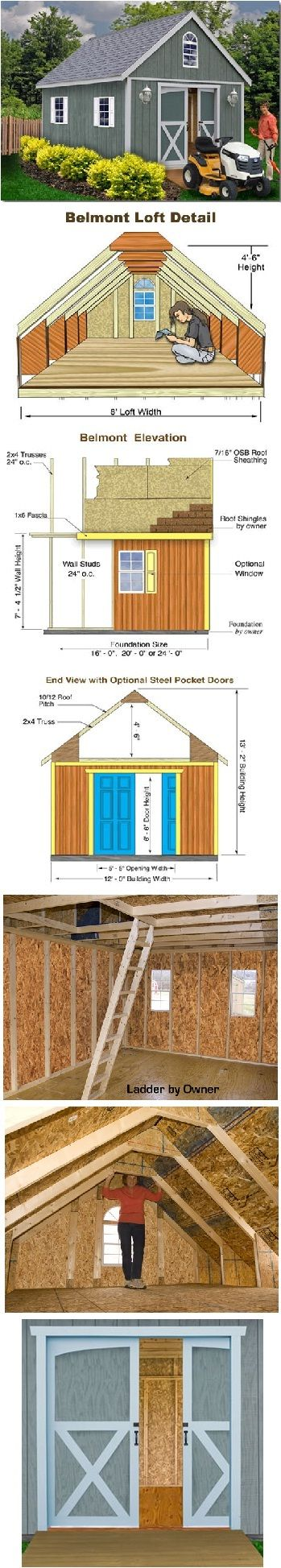 Belmont 12 ft x 16 ft Best Barn Wood Shed Kit