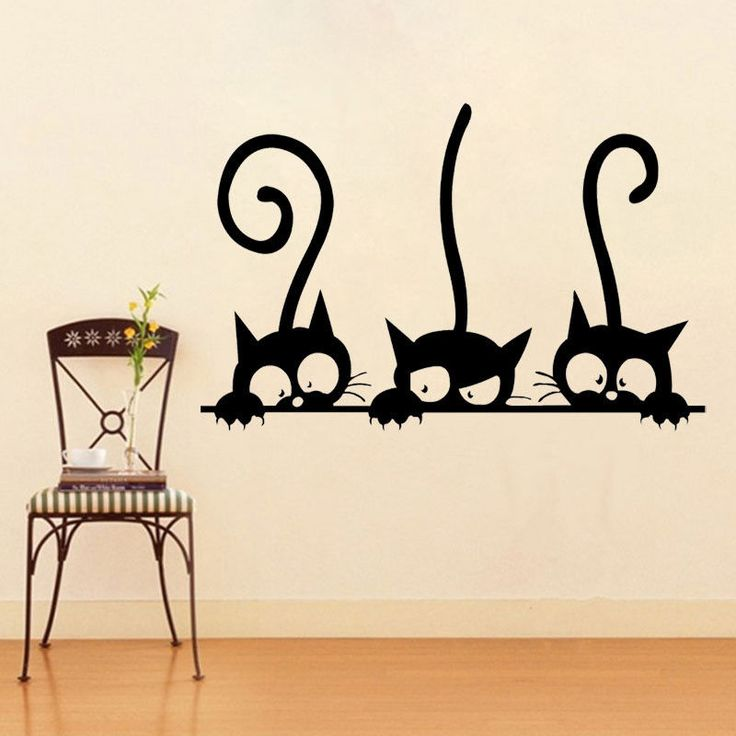 Die besten 25 wandtattoo katze ideen auf pinterest wall - Katzen wandtattoo ...