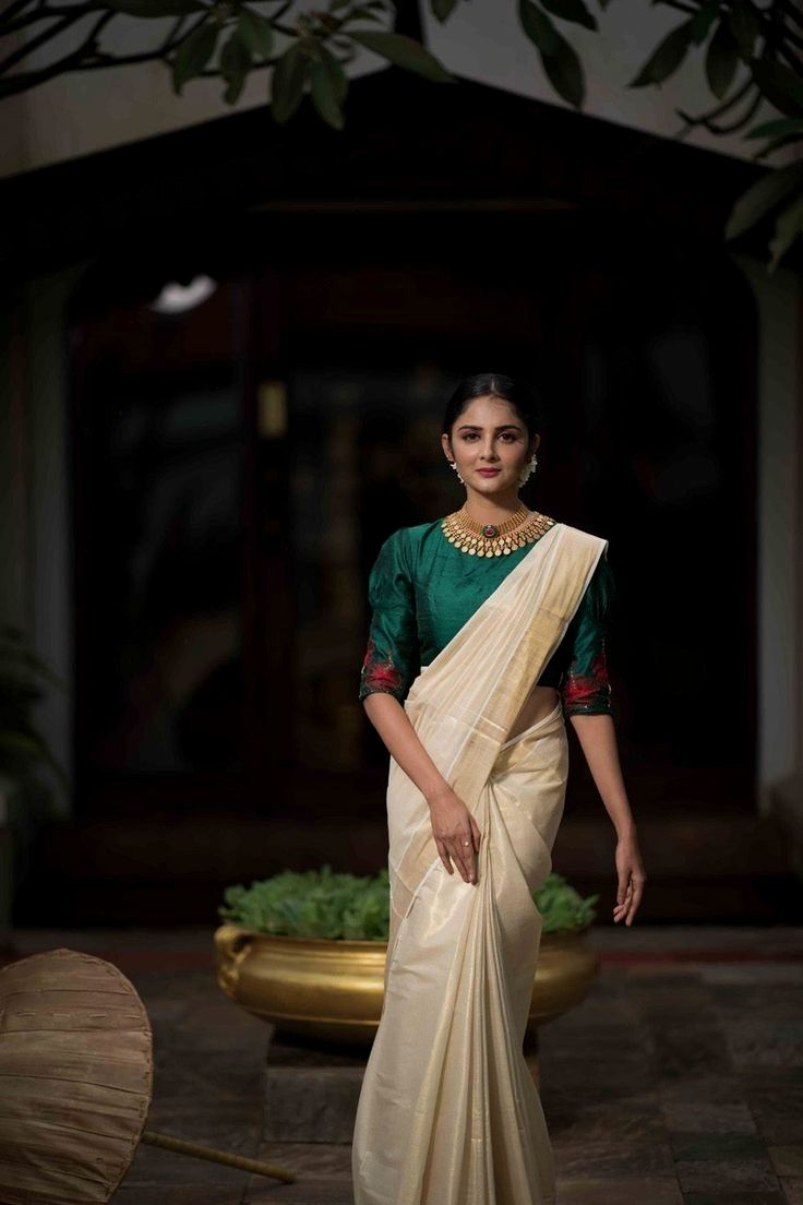 3 4 sleeve silk saree blouse designs classic indian sari click visit link above for more details