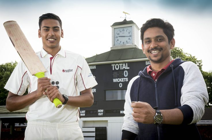 Our partnership with Leicestershire County Cricket Club offers our students amazing opportunities. Akash Das (right) was chosen to perform the coin toss as Leicestershire played India and met cricketing legend MS Dhoni. Mayur Chauhan (left) was chosen to be 12th man  and step out onto the turf at Grace Road #sport #cricket #India #DMUglobal #Dhoni #Leicestershire #Leicester