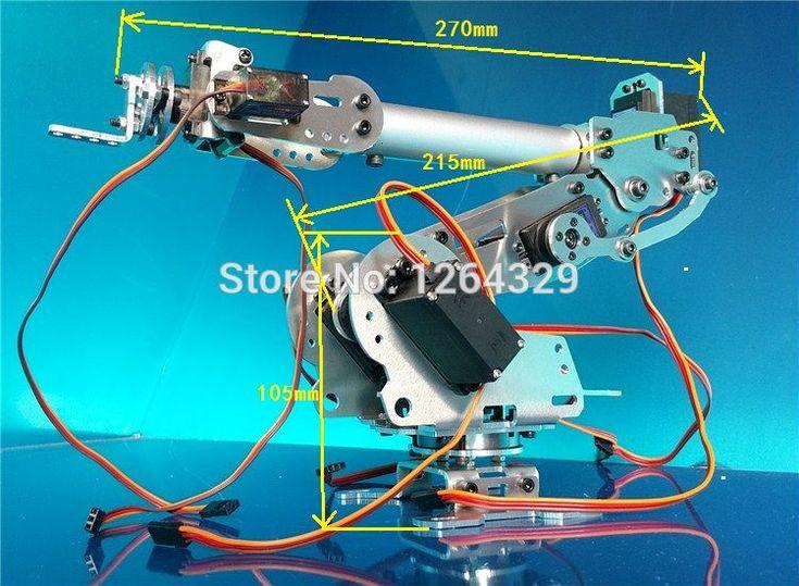 Купить товар6DOF манипулятора a3, Полностью металлический, С высоким крутящим моментом сервоприводы / управления роботом части для diy, Промышленный робот рука развития в категории Запчасти и аксессуарына AliExpress.  Описание продукта:      Название: 6 степенями свободы робот-a3          Все металлические механическая рука          Об