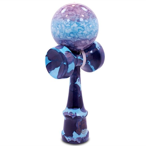 Blue & Purple Marble Kendama - Full