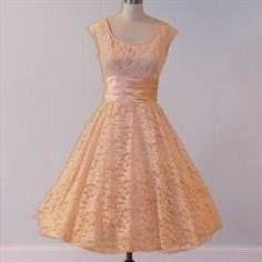 Cool peach lace dress