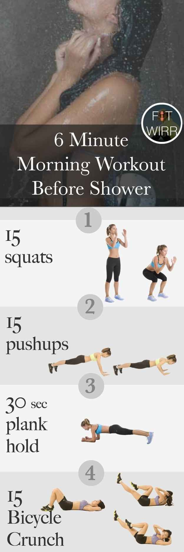 Morning Workout before the Shower.  For when you don't even have 10 minutes to spare: