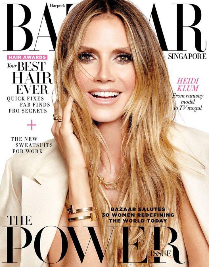 Heidi Klum on Harper's Bazaar Singapore July 2017 Cover