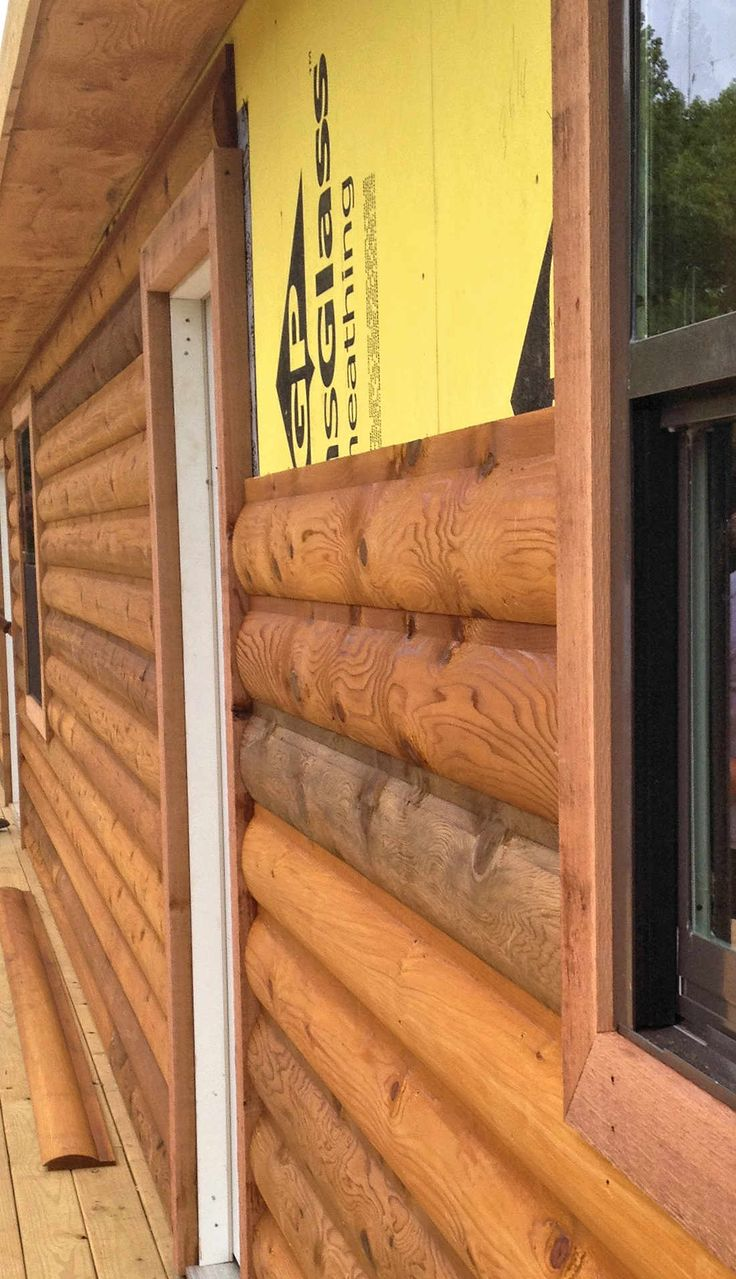 13 Best Faux Log Siding Images On Pinterest Log Cabin