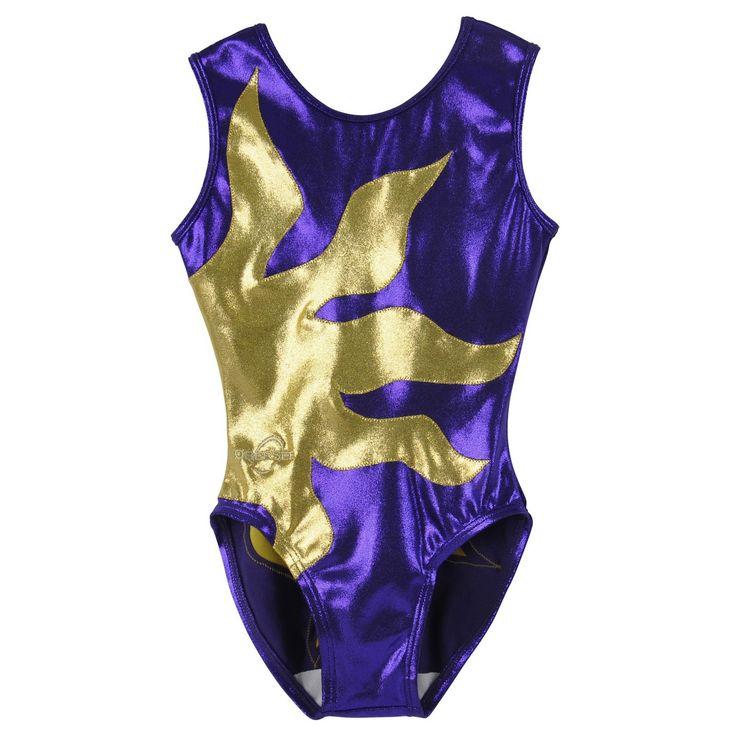 purple and gold gymnastics meet