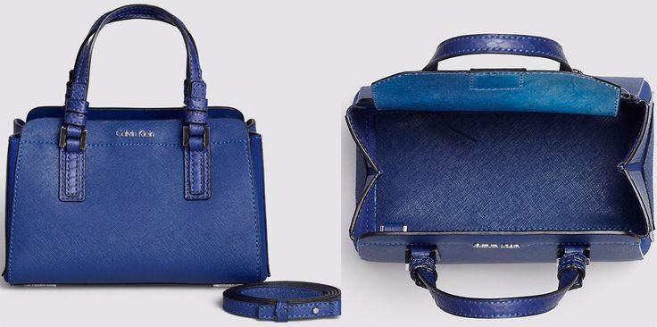 Borsa blu Calvin Klein