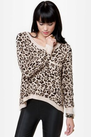 I'm into leopard print clothing this season..