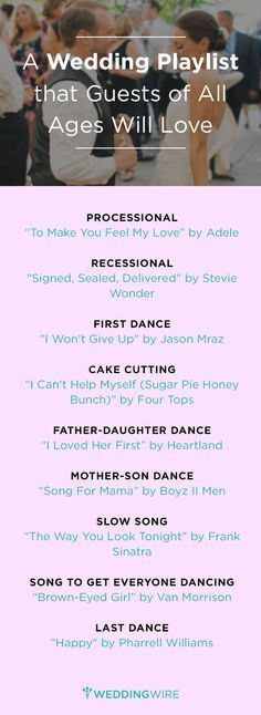 A Wedding Playlist That Guests Of All Ages Will Love