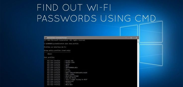 Learn to Find The Wi-Fi Password Of Your Current Network Using CMD 2017, that will help you recover your WiFi passwords from your connected devices.