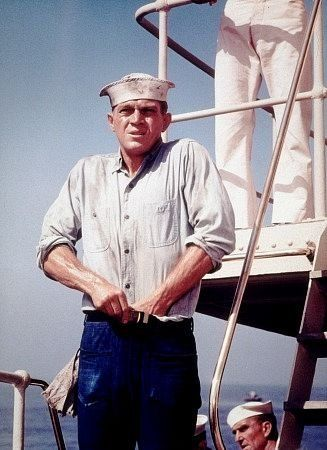 THE SAND PEBBLES (1966) - Steve McQueen (pictured) - Richard Attenborough - Richard Crenna - Candice Bergen - Based on novel by Richard McKenna - Directed by Robert Wise - 20th Century-Fox - Publicity Still.