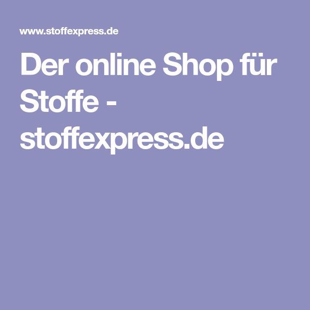 Der online Shop für Stoffe - stoffexpress.de