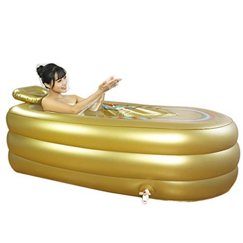 Mizii Doppelte Badewanne Faltbare Aufblasbare Dicke Warme Erwachsene Badewanne, Kinder Aufblasbare Pool Badewanne, Gold
