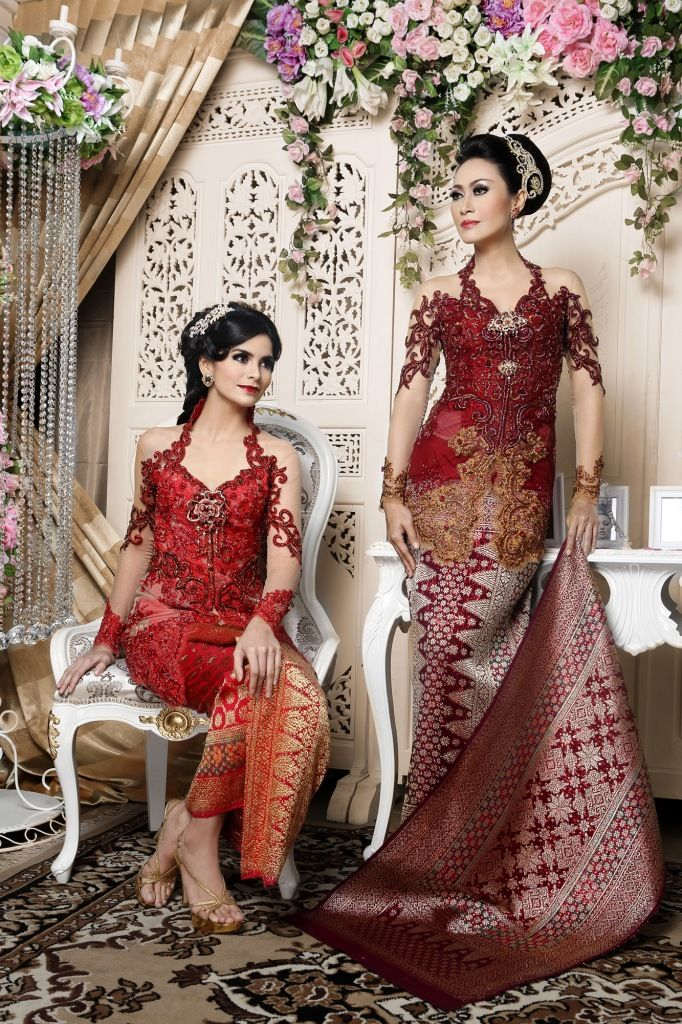 Nice red wedding kebaya - - -