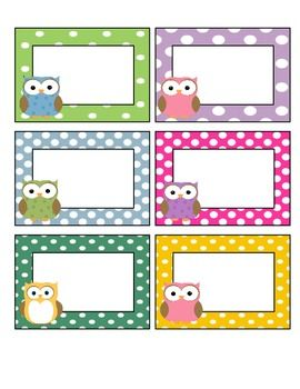 owls! labels