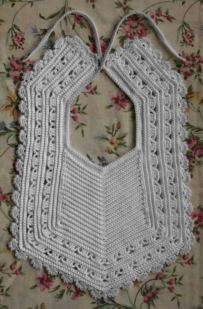 Heirloom Crochet Bib