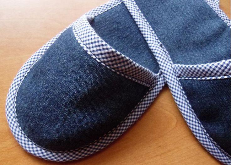 Bolsa De Tecido E Jeans : Como fazer chinelo de tecido com molde cacareco id?ias