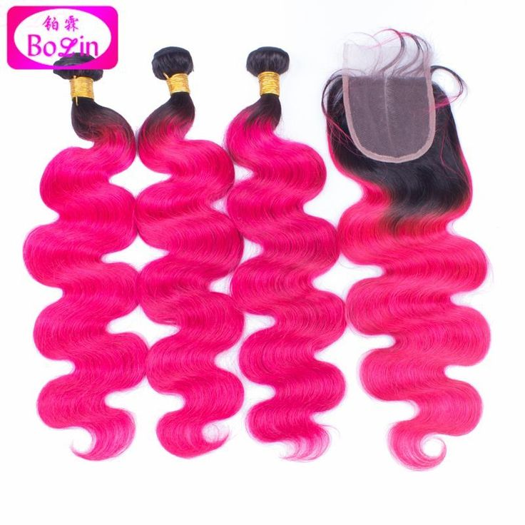 Cheap hair color to cover gray, Buy Quality hair weave wig directly from China hair extension clip on Suppliers: 8a ombre hot pink human hair extensions pink and black human hair weave bundles 100% brazilian body wave hair with closure