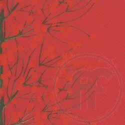 Lumimarja, punainen paperinen Marimekko-lautasliina