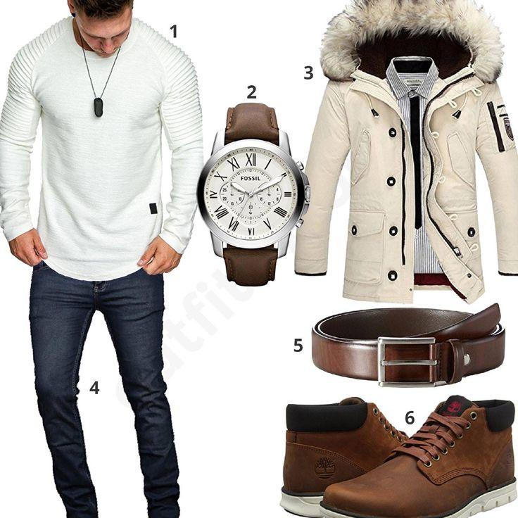 Herbst-Style mit cremefarbener Daunenjacke (m0614) #fossil #amacisons #winterjacke #timberland #outfit #style #fashion #menswear #herren #männer #shirt #mode #styling #sneaker #menstyle #mensfashion #menswear #inspiration #shirt #cloth #clothing #ootd #herrenoutfit #männeroutfit
