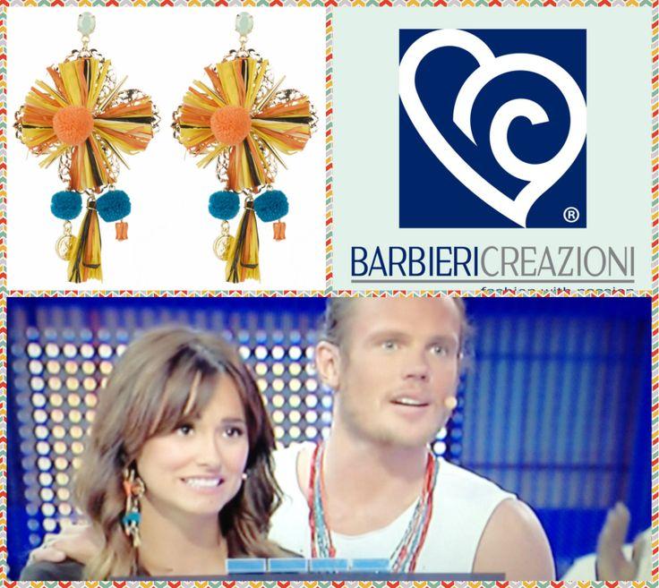 Michela Coppa alla trasmissione AVANTI UN ALTRO su #canale5, con gli #orecchini della Linea #Exploria, collezione #ss2014 firmati Barbieri Creazioni. Disponibili sullo shop on line www.barbiericreazioni.it