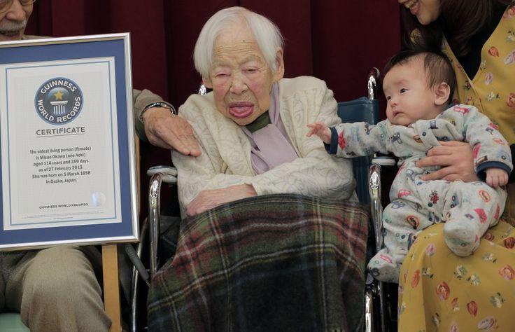 Misao Okawa la donna più longeva del pianeta, età di 114 anni e vive a Osaka.    -27-02-13-