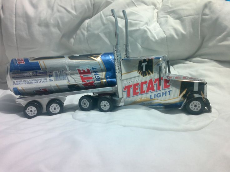 trailer hecho con latas de aluminio tutorial truck made from aluminu...