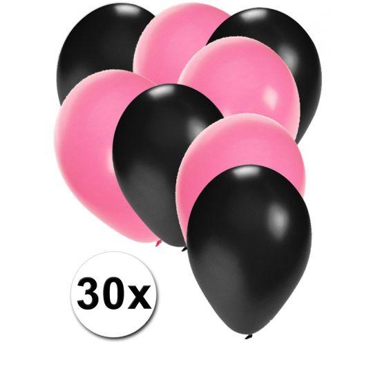Zwarte en lichtroze ballonnen 30 stuks  30 stuks ballonnen in de kleuren zwart en lichtroze. Van elke kleur 15 ballonnen leuk voor verjaardagen en themafeesten. Formaat is ongeveer 27 cm. Goede kwaliteit.  Dit artikel bestaat uit: 1x Zwarte ballonnen 15 stuks 1x Lichtroze ballonnen 15 stuks  EUR 2.99  Meer informatie