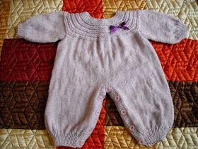 .........Oficina da Regina.......: Macacão Básico em Tricô para Bebês.