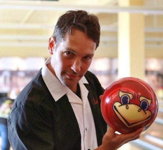 KU bowling with Paul