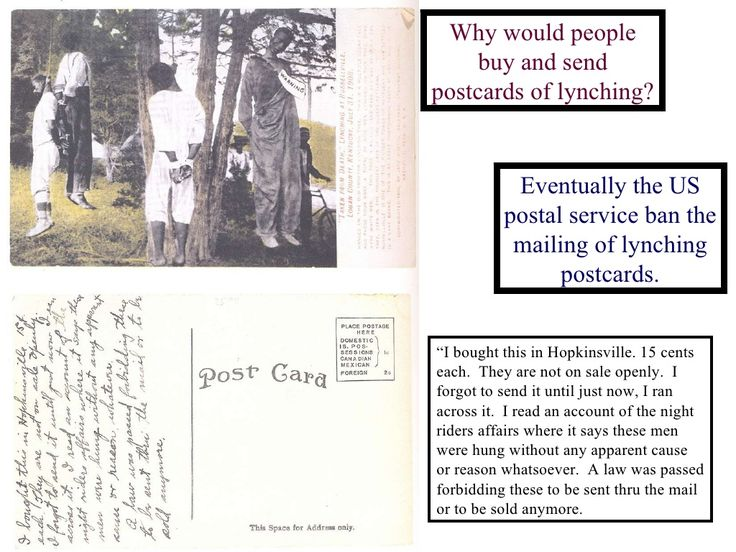 postcard lynchings Lynchings & hangings of america who was shot by a white mob after publishing articles criticizing lynching and advocating the abolition of postcards posters.