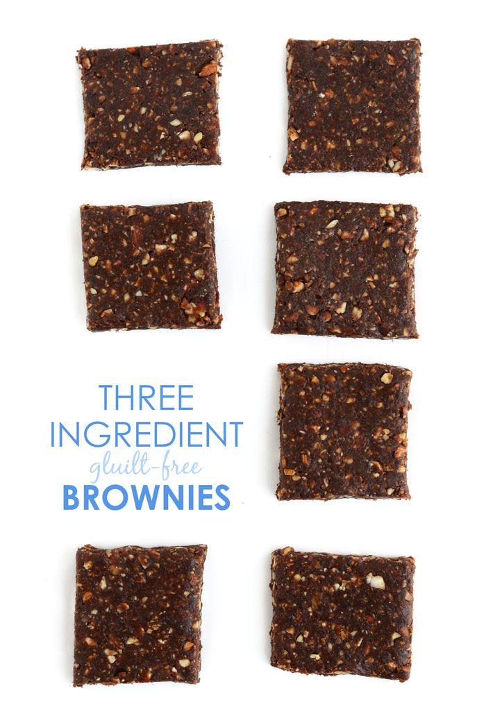 3-Ingredient Guilt-Free Brownies made with Blue Diamond Almonds #ad #glutenfree #vegan