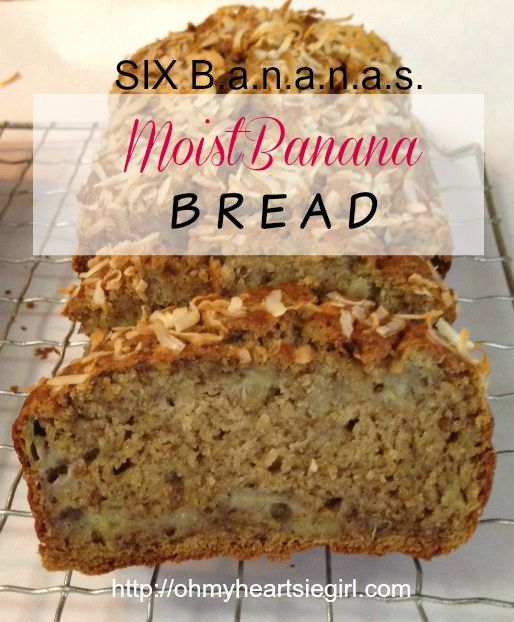SIX Bananas Banana Bread